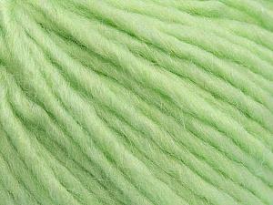 Fiber Content 50% Merino Wool, 25% Acrylic, 25% Alpaca, Light Green, Brand ICE, Yarn Thickness 5 Bulky  Chunky, Craft, Rug, fnt2-48706