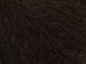 Fiber Content 42% Acrylic, 4% Elastan, 28% Polyamide, 13% Viscose, 13% Wool, Brand ICE, Dark Brown, fnt2-49033