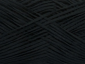 Fiber Content 50% Acrylic, 50% Cotton, Brand ICE, Black, Yarn Thickness 2 Fine  Sport, Baby, fnt2-49416