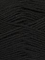 Fiber Content 55% Lambs Wool, 25% Acrylic, 20% Polyamide, Brand KUKA, Black, Yarn Thickness 3 Light  DK, Light, Worsted, fnt2-17553