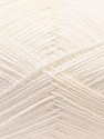 Fiber Content 60% Merino Wool, 40% Acrylic, White, Brand ICE, Yarn Thickness 2 Fine  Sport, Baby, fnt2-21089