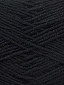 Fiber Content 55% Virgin Wool, 5% Cashmere, 40% Acrylic, Brand ICE, Black, Yarn Thickness 2 Fine  Sport, Baby, fnt2-21110