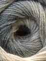 Fiber Content 60% Acrylic, 20% Wool, 20% Angora, Brand ICE, Grey Shades, Yarn Thickness 2 Fine  Sport, Baby, fnt2-22376