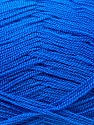 Very thin yarn. It is spinned as two threads. So you will knit as two threads. Yardage information is for only one strand. Fiber Content 100% Acrylic, Brand ICE, Blue, Yarn Thickness 1 SuperFine  Sock, Fingering, Baby, fnt2-22440