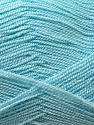 Very thin yarn. It is spinned as two threads. So you will knit as two threads. Yardage information is for only one strand. Fiber Content 100% Acrylic, Light Blue, Brand ICE, Yarn Thickness 1 SuperFine  Sock, Fingering, Baby, fnt2-22441