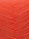 Very thin yarn. It is spinned as two threads. So you will knit as two threads. Yardage information is for only one strand. Fiber Content 100% Acrylic, Light Salmon, Brand ICE, Yarn Thickness 1 SuperFine  Sock, Fingering, Baby, fnt2-22451