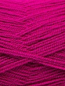 Very thin yarn. It is spinned as two threads. So you will knit as two threads. Yardage information is for only one strand. Fiber Content 100% Acrylic, Brand ICE, Dark Fuchsia, Yarn Thickness 1 SuperFine  Sock, Fingering, Baby, fnt2-22452
