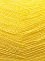 Very thin yarn. It is spinned as two threads. So you will knit as two threads. Yardage information is for only one strand. Fiber Content 100% Acrylic, Yellow, Brand ICE, Yarn Thickness 1 SuperFine  Sock, Fingering, Baby, fnt2-22454