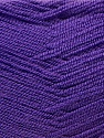 Very thin yarn. It is spinned as two threads. So you will knit as two threads. Yardage information is for only one strand. Fiber Content 100% Acrylic, Purple, Brand ICE, Yarn Thickness 1 SuperFine  Sock, Fingering, Baby, fnt2-22456