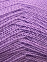 Very thin yarn. It is spinned as two threads. So you will knit as two threads. Yardage information is for only one strand. Fiber Content 100% Acrylic, Lilac, Brand ICE, Yarn Thickness 1 SuperFine  Sock, Fingering, Baby, fnt2-22457