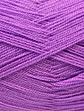 Very thin yarn. It is spinned as two threads. So you will knit as two threads. Yardage information is for only one strand. Fiber Content 100% Acrylic, Lavender, Brand ICE, Yarn Thickness 1 SuperFine  Sock, Fingering, Baby, fnt2-22458