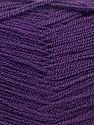 Very thin yarn. It is spinned as two threads. So you will knit as two threads. Yardage information is for only one strand. Fiber Content 100% Acrylic, Purple, Brand ICE, Yarn Thickness 1 SuperFine  Sock, Fingering, Baby, fnt2-22459