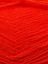 Very thin yarn. It is spinned as two threads. So you will knit as two threads. Yardage information is for only one strand. Fiber Content 100% Acrylic, Orange, Brand ICE, Yarn Thickness 1 SuperFine  Sock, Fingering, Baby, fnt2-22461