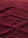 Very thin yarn. It is spinned as two threads. So you will knit as two threads. Yardage information is for only one strand. Fiber Content 100% Acrylic, Brand ICE, Burgundy, Yarn Thickness 1 SuperFine  Sock, Fingering, Baby, fnt2-22462