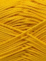 Fiber Content 100% Mercerised Cotton, Yellow, Brand Ice Yarns, Yarn Thickness 2 Fine  Sport, Baby, fnt2-23327