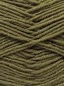 Fiber Content 100% Virgin Wool, Brand ICE, Dark Khaki, Yarn Thickness 3 Light  DK, Light, Worsted, fnt2-25655