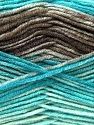 Fiber Content 45% Bamboo, 45% Wool, 10% Acrylic, Turquoise, Brand ICE, Camel, Brown, Yarn Thickness 3 Light  DK, Light, Worsted, fnt2-25989
