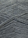 Very thin yarn. It is spinned as two threads. So you will knit as two threads. Yardage information is for only one strand. Fiber Content 100% Acrylic, Brand ICE, Grey, Yarn Thickness 1 SuperFine  Sock, Fingering, Baby, fnt2-26709