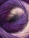 Fiber Content 55% Acrylic, 45% Angora, White, Purple, Lilac, Brand Ice Yarns, Yarn Thickness 2 Fine  Sport, Baby, fnt2-26936