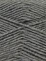 Fiber Content 50% Micro Acrylic, 50% Bamboo, Brand Ice Yarns, Grey, Yarn Thickness 3 Light  DK, Light, Worsted, fnt2-27233