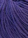 Fiber Content 50% Acrylic, 50% Cotton, Purple, Brand ICE, Yarn Thickness 3 Light  DK, Light, Worsted, fnt2-27364