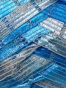 Fiber Content 90% Micro Fiber, 10% Metallic Lurex, White, Brand ICE, Blue Shades, Yarn Thickness 6 SuperBulky  Bulky, Roving, fnt2-30929