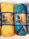 A fresh scarf  yarn wiith cotton content. Shiny and fresh! Fiber Content 70% Cotton, 30% Nylon, Mambo, Brand Ice Yarns, Yarn Thickness 6 SuperBulky  Bulky, Roving, fnt2-31353