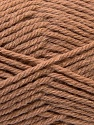 Fiber Content 70% Acrylic, 20% Wool, 10% Linen, Light Brown, Brand Ice Yarns, Yarn Thickness 4 Medium  Worsted, Afghan, Aran, fnt2-32439