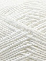 Fiber Content 50% Acrylic, 50% Cotton, White, Brand Ice Yarns, Yarn Thickness 3 Light  DK, Light, Worsted, fnt2-32782