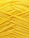 Fiber Content 50% Acrylic, 50% Cotton, Yellow, Brand ICE, Yarn Thickness 3 Light  DK, Light, Worsted, fnt2-32785