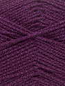 Fiber Content 94% Acrylic, 6% Lurex, Purple, Brand ICE, Yarn Thickness 3 Light  DK, Light, Worsted, fnt2-33035