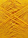 Fiber Content 50% Cotton, 50% Polyester, Yellow, Brand Ice Yarns, Yarn Thickness 2 Fine  Sport, Baby, fnt2-33046