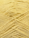 Fiber Content 67% Cotton, 33% Polyester, Light Yellow, Brand ICE, Yarn Thickness 2 Fine  Sport, Baby, fnt2-34096