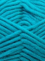 Perfect for felting in the washing machine. Shrinkage about 30%-40% Fiber Content 100% Virgin Wool, Turquoise, Brand ICE, Yarn Thickness 5 Bulky  Chunky, Craft, Rug, fnt2-34704