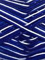 Fiber Content 100% Mercerised Cotton, White, Navy, Brand ICE, Blue, Yarn Thickness 2 Fine  Sport, Baby, fnt2-34756