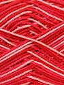 Fiber Content 100% Mercerised Cotton, White, Salmon, Red, Brand ICE, Yarn Thickness 2 Fine  Sport, Baby, fnt2-34760