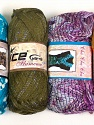 Please note that the weight and yardage information for this lot is approximate Scarf Yarns, Brand Ice Yarns, Yarn Thickness 6 SuperBulky  Bulky, Roving, fnt2-34790