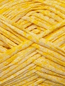 Fiber Content 50% Acrylic, 50% Cotton, Yellow, White, Brand ICE, Yarn Thickness 3 Light  DK, Light, Worsted, fnt2-34920