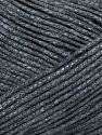 This is a tube-like yarn with soft fleece inside. Fiber Content 75% Cotton, 25% Nylon, Brand ICE, Grey, Yarn Thickness 4 Medium  Worsted, Afghan, Aran, fnt2-35404