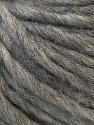 Fiber Content 50% Merino Wool, 25% Acrylic, 25% Alpaca, Brand ICE, Grey, Yarn Thickness 6 SuperBulky  Bulky, Roving, fnt2-35445