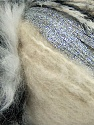 Fiber Content 5% Metallic Lurex, 45% Polyamide, 25% Acrylic, 25% Polyester, Silver, Brand ICE, Grey Shades, Cream, Yarn Thickness 5 Bulky  Chunky, Craft, Rug, fnt2-35504
