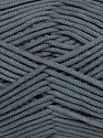 This is a tube-like yarn with soft fleece inside. Fiber Content 73% Viscose, 27% Polyester, Brand ICE, Grey, Yarn Thickness 5 Bulky  Chunky, Craft, Rug, fnt2-35597