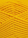 This is a tube-like yarn with soft fleece inside. Fiber Content 73% Viscose, 27% Polyester, Yellow, Brand Ice Yarns, Yarn Thickness 5 Bulky  Chunky, Craft, Rug, fnt2-35603
