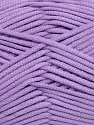 This is a tube-like yarn with soft fleece inside. Fiber Content 73% Viscose, 27% Polyester, Lavender, Brand ICE, Yarn Thickness 5 Bulky  Chunky, Craft, Rug, fnt2-35608