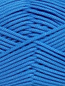 This is a tube-like yarn with soft fleece inside. Fiber Content 73% Viscose, 27% Polyester, Brand Ice Yarns, Blue, Yarn Thickness 5 Bulky  Chunky, Craft, Rug, fnt2-35613