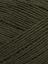 Fiber Content 100% Merino Extrafine, Brand ICE, Dark Khaki, Yarn Thickness 2 Fine  Sport, Baby, fnt2-35707