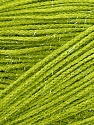Fiber Content 60% Polyester, 40% Lurex, Light Green, Brand ICE, Yarn Thickness 5 Bulky  Chunky, Craft, Rug, fnt2-35783