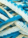 Fiber Content 50% Wool, 50% Acrylic, White, Turquoise, Brand ICE, Cream, Yarn Thickness 6 SuperBulky  Bulky, Roving, fnt2-36055
