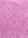 Knitted as 4 ply Fiber Content 40% Polyamide, 30% Kid Mohair, 30% Acrylic, Light Lilac, Brand ICE, Yarn Thickness 1 SuperFine  Sock, Fingering, Baby, fnt2-36143