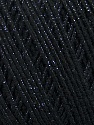 Fiber Content 70% Acrylic, 20% Metallic Lurex, 10% Cotton, Brand ICE, Black, fnt2-36266